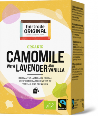 FTO thee Kamille + lavendel & vanille Fairtrade 20x1.75gr BE-BIO-01