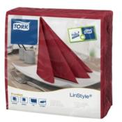 Tork Linstyle Dinner Napkin Burgundy 39x39cm 12x50pc (478855)