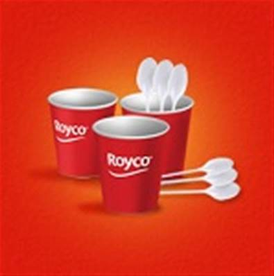 Royco vending pack 1000 bekers + 1000 roerstaafjes