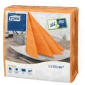 Tork Linstyle Dinner Napkin Orange 39x39cm 12x50pc (478851)